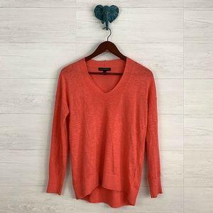Banana Republic Coral Orange Linen Blend Sweater